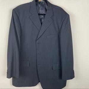 ALAIN DUPETIT  Italian Black Pinstripe Blazer 46S